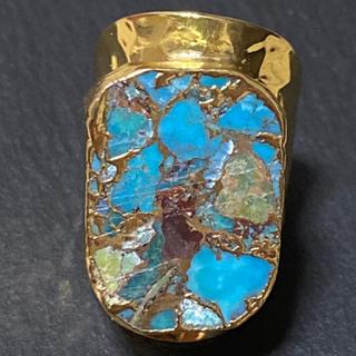ローズバッド(ROSE BUD)の天然石 リング 指輪 ターコイズ C ゴールド(リング(指輪))