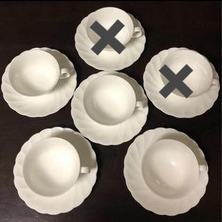 ノリタケ(Noritake)のノリタケ Noritake カップ&ソーサー カップアンドソーサー 白 ホワイト(食器)