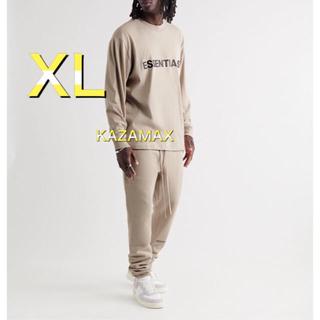 フィアオブゴッド(FEAR OF GOD)のFOG Essentials エッセンシャルズ ロンT タン ベージュ XL(Tシャツ/カットソー(七分/長袖))