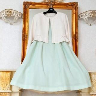ルネ(René)のReneふんわりワッフル生地ネームプレート付ドレス36(ひざ丈ワンピース)