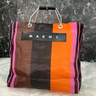 マルニ(Marni)の美品 MARNI トートバッグ マルチピンク(トートバッグ)