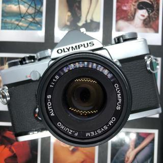 オリンパス(OLYMPUS)の【保証付:完動品】OLYMPUS OM-1 一眼レフ フィルムカメラ【極美品】(フィルムカメラ)