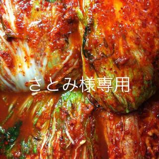白菜キムチ200g、オイキムチ200g、塩辛風イカキムチ 100g(漬物)