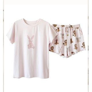 ジェラートピケ(gelato pique)のジェラートピケ アニマルTシャツ&ショートパンツセット(ルームウェア)