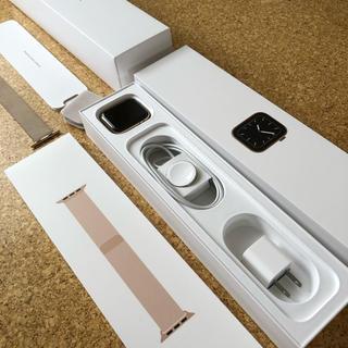アップルウォッチ(Apple Watch)のApple Watch series5 44mm ステンレスゴールド(腕時計(デジタル))