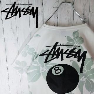 ステューシー(STUSSY)のSTUSSY ビッグロゴ 8ボール ボタニカル柄 半袖Tシャツ(Tシャツ/カットソー(半袖/袖なし))