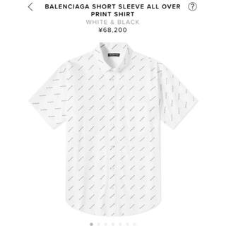 バレンシアガ(Balenciaga)のBalenciaga モノグラム ロゴシャツ M(Tシャツ/カットソー(半袖/袖なし))