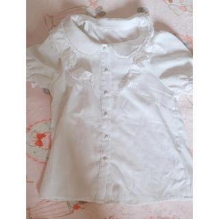 マーズ(MA*RS)のMARS 白フリルブラウス(リボン付き)(シャツ/ブラウス(半袖/袖なし))