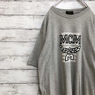 エムシーエム(MCM)の【でかロゴ】美品 ほぼ未使用 MCM ビッグロゴ Tシャツ 霜降りグレー(Tシャツ/カットソー(半袖/袖なし))