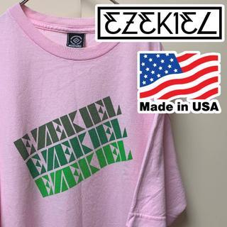 イズキール(EZEKIEL)のEZEKIEL イズキール Tシャツ ピンク L エゼキエル サーフ系(Tシャツ/カットソー(半袖/袖なし))