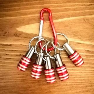 赤色 5個セット ビットホルダー ソケットホルダー 新品未使用 送料無料(工具/メンテナンス)