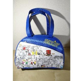 ピーナッツ(PEANUTS)のスヌーピー★レザーバッグ ブルー ラッピング袋付き(キャラクターグッズ)