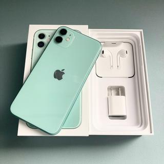 アップル(Apple)のApple iPhone 11 64GB グリーン SIMフリー版(スマートフォン本体)