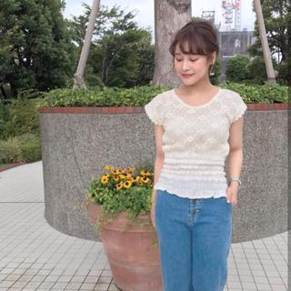 フラワー(flower)のflower トップス(カットソー(半袖/袖なし))