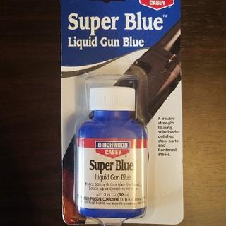 【新品・未使用】バーチウッド スーパーブルー ガンブルー液 90ml(モデルガン)