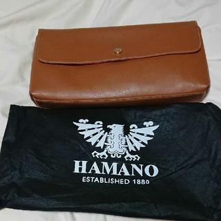 ハマノヒカクコウゲイ(濱野皮革工藝/HAMANO)のHAMANO ポーチ 美品 袋付き(ポーチ)