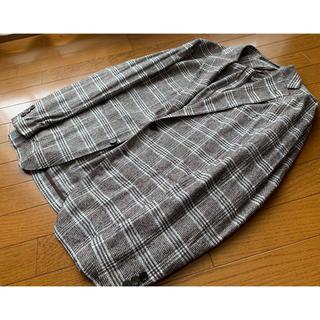 ビームス(BEAMS)のタリアトーレ ブラウンチェックサマーツイードジャケットサイズ50(テーラードジャケット)