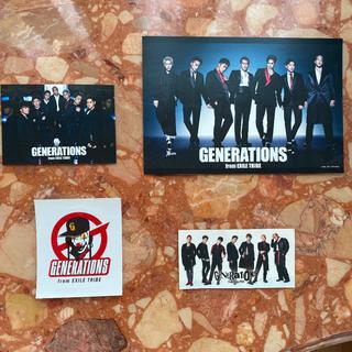 ジェネレーションズ(GENERATIONS)のジェネレーションズ ステッカー3枚&ポストカードセット!(アイドルグッズ)