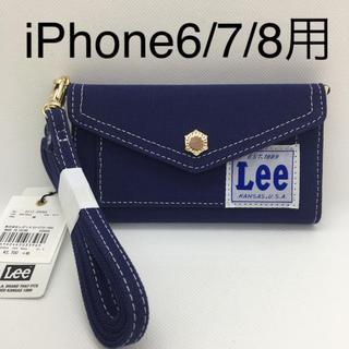 サミールナスリ(SMIR NASLI)の新品 Lee×SMIRNASLI iPhoneケース 6/7/8対応 ネイビー(iPhoneケース)