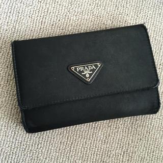 プラダ(PRADA)のPRADA 三つ折り財布 ブラック(財布)