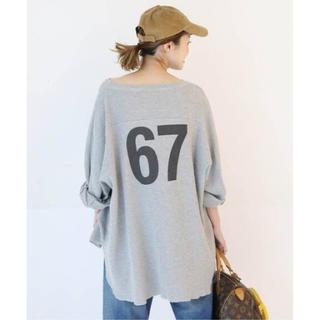 ドゥーズィエムクラス(DEUXIEME CLASSE)のCALUX FOOT BALL Tシャツ(Tシャツ(長袖/七分))