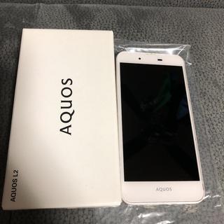 アクオス(AQUOS)のAQUOS L2 White ジャンク品(スマートフォン本体)