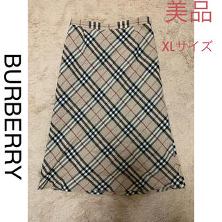 バーバリー(BURBERRY)の美品BURBERRYロングスカート(ロングスカート)