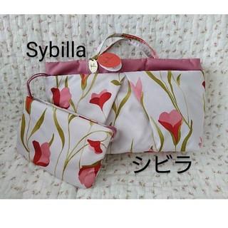 シビラ(Sybilla)のシビラ  バッグインバッグ ポーチ付き ピンク(ポーチ)