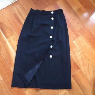 アクアスキュータム(AQUA SCUTUM)のアクアスキュータム ロングスカート 黒(ロングスカート)