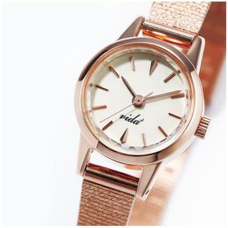 ヴィーダプラス(VIDA+)の【新品】VIDA+ 腕時計 ピンクゴールド(腕時計)