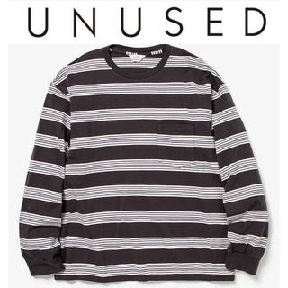 アンユーズド(UNUSED)の20SS UNUSED マルチボーダー ロングスリーブTシャツ 1 チャコール(Tシャツ/カットソー(七分/長袖))
