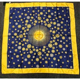 グッチ(Gucci)のオールドグッチ 太陽神 異国情緒 大判シルクスカーフ ビンテージ 80s(バンダナ/スカーフ)