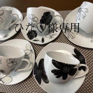 ユーピーレノマ(U.P renoma)の☆レノマ renoma  コーヒーカップ&ソーサー5客(グラス/カップ)