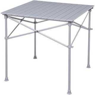 グレー70×70cmアイリスプラザ ロールテーブル アウトドア 幅70奥行70高(その他)