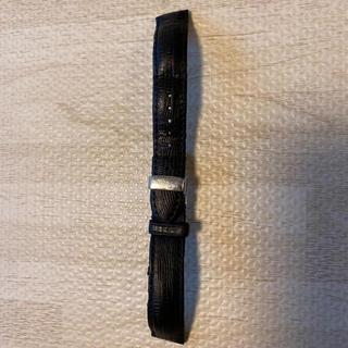 ベンチュラ(VENTURA)の人気品! HAMILTON ハミルトン レザー ベルト バンド ブラック 黒 銀(レザーベルト)