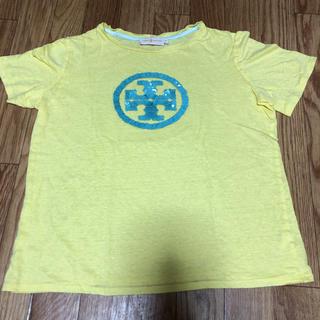 トリーバーチ(Tory Burch)の美品 トリーバーチ Tシャツ スパンコール イエロー(Tシャツ(半袖/袖なし))