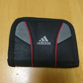 アディダス(adidas)のアディダス adidas ナイロン財布 黒 折り畳み財布(財布)