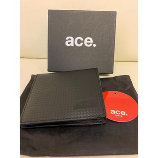 エースジーン(ACE GENE)の新品未使用 ace デュラール ミニ財布 ace.TOKYO 黒 箱なし(折り財布)