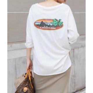 ドゥーズィエムクラス(DEUXIEME CLASSE)の試着のみ!¥17600 Deuxieme Classe ラグランバックプリントT(Tシャツ(長袖/七分))