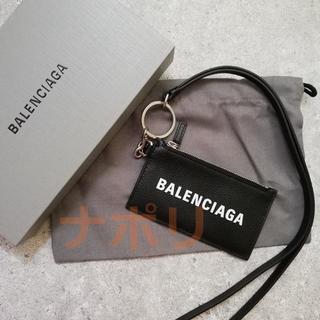 バレンシアガ(Balenciaga)のBALENCIAGA ロゴ ストラップ カードホルダー コインケース(コインケース/小銭入れ)