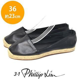 スリーワンフィリップリム(3.1 Phillip Lim)の美品❤️フィリップリム レザー エスパドリーユ 36(約23cm)(サンダル)