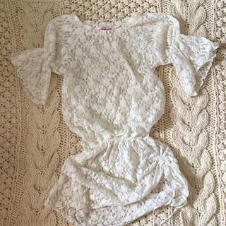 ロキエ(Lochie)のpuffsleeve flower lace onepiece(チュニック)