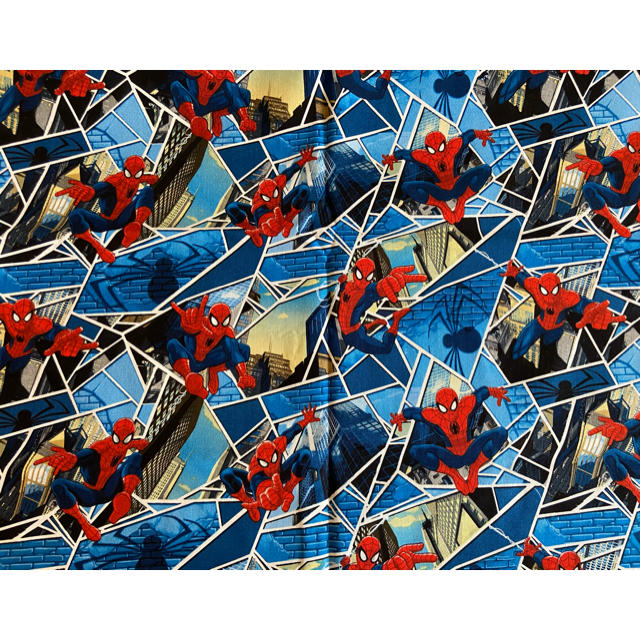 MARVEL(マーベル)の★アメリカ★ 生地 ❤︎スパイダーマン❤︎ 62x108 ハンドメイドの素材/材料(生地/糸)の商品写真