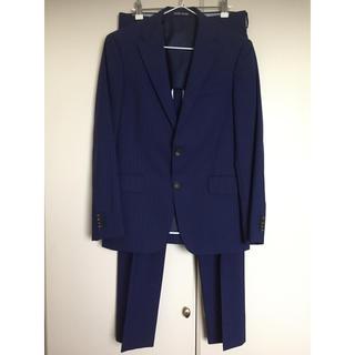 パーソンズ(PERSON'S)のPERSON'S FOR MEN スーツ セットアップ ストライプ ブルー(セットアップ)