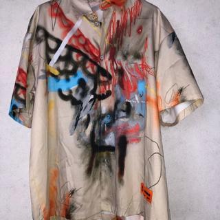 オフホワイト(OFF-WHITE)の本物 Heron Preston Baseball Shirt 米津 ヘロン(シャツ)