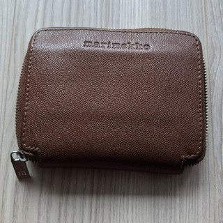 マリメッコ(marimekko)のmarimekko 革財布 ブラウン(財布)
