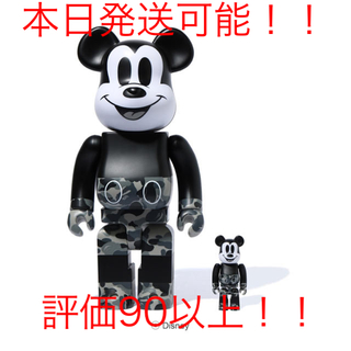 アベイシングエイプ(A BATHING APE)のBE@RBRICK BAPE MICKEY MOUSE MONOTONE (その他)