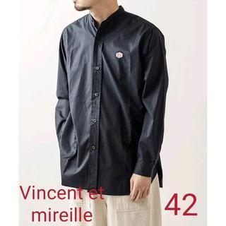 ダントン(DANTON)のVincent et Mireille バンドカラーシャツ 42(シャツ)