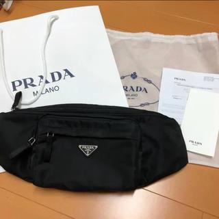 プラダ(PRADA)のPRADA プラダ ショルダー バッグ ウエスト ブラック(ボディーバッグ)