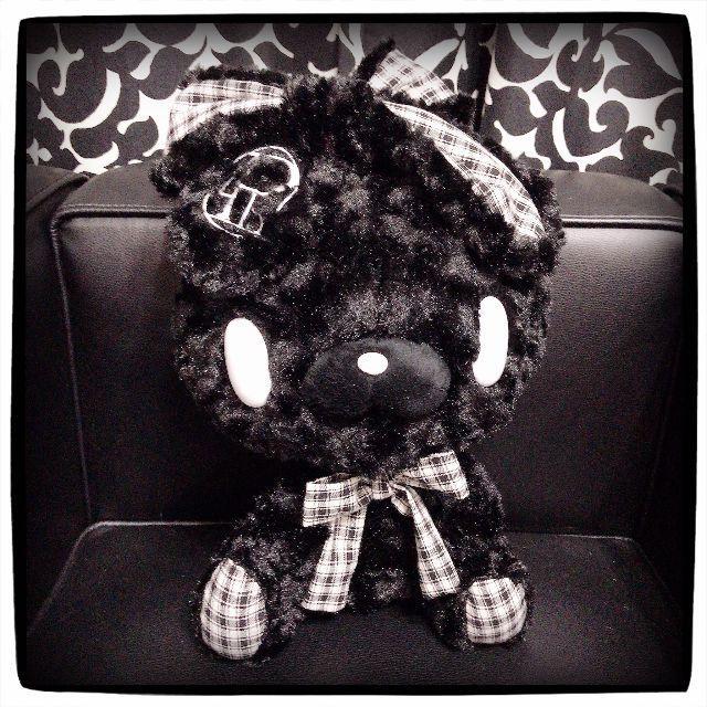 TAITO(タイトー)の【新品】汎用うさぎ テディバニー〈モノチェックブラック〉(非売品) エンタメ/ホビーのおもちゃ/ぬいぐるみ(キャラクターグッズ)の商品写真